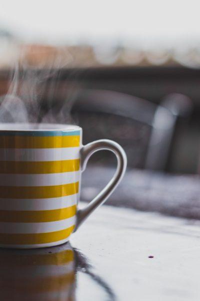 Une tasse de café, exemple de goodies
