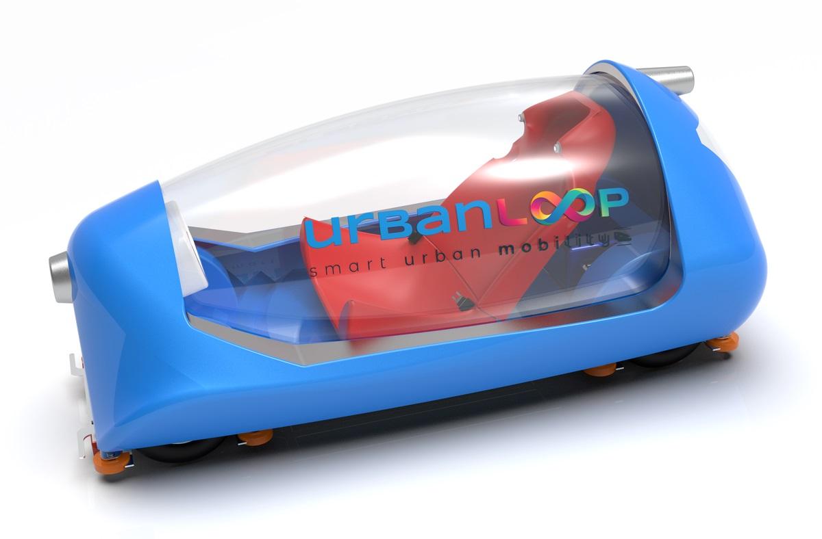Urbanloop capsule hyper rapide